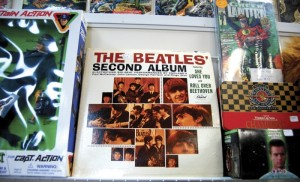 The Beatles' Second Album sits on a shelf in Collectivity on Fisher Street in downtown Salisbury. The collector's store has around 1,500 records.