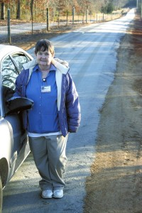 Sue Kepley says the repair of her driveway facilitated by co-workers at Novant Health Rowan Medical Center was the best Christmas present she's ever received.  Susan Shinn, for the Salisbury Post.