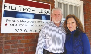 Filltech USA owners Dennis and Cookie Jones saved the company from closing in 2008 and have turned it into a successful, growing business. The company has made several donations to military personnel and this week donated 79,000 tubes of lip balm to men and women in the armed services.