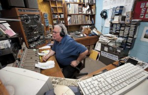 JON C. LAKEY / SALISBURY POST  Howard Platt carries on an on air conversation with his co-host Kent Bernhardt , who is in an studio during their morning show. Platt and Bernhardt have been filling the morning Salisbury airwaves with their 3 hour Kent and Howard in the Morning show on WSTP. Friday may be the last day that show will be on the air as the radio station operations transistions over to the new owners. Wednesday, February 25, 2015, in Salisbury, N.C.