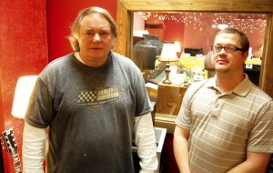 Daniel Gardner, right, and his uncle Gary Jenkins teamed up to open a music studio, Silver Star Recording. Gardner produced music in Atlanta, Ga., before coming to Rowan County to work for his uncle, who owns Carolina Avionics, two years ago. The studio is located on South Main Street near the county's airport.