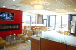 Wendy's on East Innes Street is reopen after being torn down and rebuilt. The redesign is more of a lounge atmosphere.