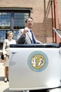 Josh Bergeron / Salisbury Post - Gov. Pat McCrory looks at an old highway patrol vehicle during a visit to the N.C. Transporation Museum earlier this year.