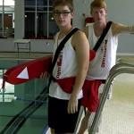 "Wyatt Zander, left, and Kaleb Robinson, lifeguards from the Saleeby-Fisher YMCA in Rockwell were two of four lifeguards featured in a video they created for the Good Morning America ""Shut Up and Dance"" contest. The group did not win, but had fun creating the video. Submitted photo"