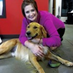 Kyndall Moore with Marley, the dog she and her husband adopted. Submitted photo