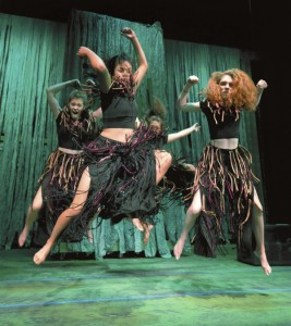 The ape characters get rowdy in the PPT youth production of Tarzan. photo by Wayne Hinshaw; for the Salisbury Post