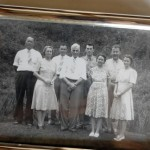 This Roberts family photograph shows H.K. Roberts, fourth from left, with seven of his 10 children. From left, the children are Wilbur, Vera, Harold, Ralph, Edna, Walter and Mabel. Three other sons were in the military at the time. They were Clyde, Carl and Claude. Mark Wineka/Salisbury Post
