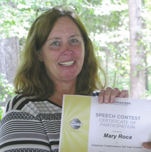 Mary Roca -- 2015 Goldmine Tall Tales Speech Contest Winner