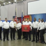 Members of the Rowan County Veterans Honor Guard celebrate their national championship in advancing and retrieving colors at the American Legion National Convention in Baltimore, Md. Submitted photo