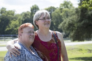Josh Bergeron / Salisbury Post - Kannapolis resident Kay Baker and Ruzica Sadowski smile for a picture after meeting each other in person for the first time. The pair have been pen pals for 40 years.