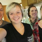 German exchange student Franzi Botur, far right, with her host family, Elora Suggs in the foreground and parents Allan and Wendy Suggs. Submitted photo