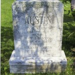 The Dixonville Cemetery tombstone of the Rev. George W. Austin, his wife, Mary, and their infant son Benjamin. George Austin was a Baptist minister and popular public school teacher. Submitted photo