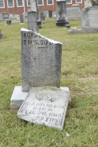 Vandals damaged about 37 headstones in the cemetery of St. Enoch Lutheran Church, Kannapolis. Photo by Rebecca Rider