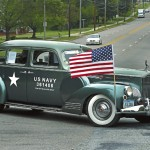 A vintage U.S. Navy staff car is among the vehicles in the convoy. Wayne Hinshaw/For the Salisbury Post