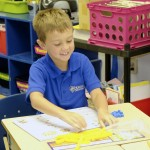 North Hills Christian School student Jackson Hall works with the Singapore Math curriculum. Submitted photo
