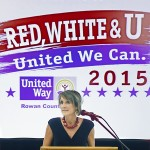 Penny Greer-Link, chairwoman of the Rowan United Way campaign for 2015, speaks during Wednesday's kick-off event. Wayne Hinshaw/For the Salisbury Post