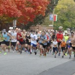 Runners take off at the start of the Spooky Sprint 5K. Submitted photo