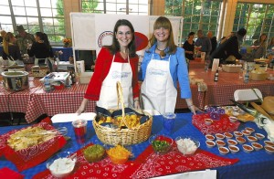 Salisbury Academy table:   Shannon McCoy and Brittany Wear at the Waterworks Chili Cook Off .  photo by Wayne Hinshaw, for the Salisbury Post