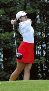 Salisbury's Grace Yatawara, show playing at the county tournament on Sept. 21, won the Central Carolina Conference individual title on Tuesday at Corbin Hills Golf Club.