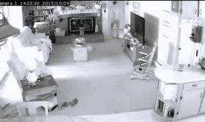 This image was taken from the house's security camera.