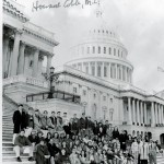 As a West Rowan High teacher, Terry Osborne took many of his civics and history class students to Washington, and those trips always included a visit with U.S. Rep. Howard Coble, standing in the long coat jacket at the far right with the late Newton Cohen of Rowan County. Submitted photo