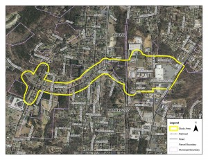 This map shows where the proposed project would occur. Click on the picture to view a large version of the map.