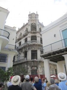 Submitted photo - The Rowan Chamber's Cuba trip included guided walking tours of pedestrian only Old Havana, a UNESCO World Heritage site, with historic building restoration in progress on this hotel dating back to the 1700's.