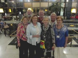 Submitted photo - The Rowan Chamber's Cuba trip participants were (left to right):   Kim Fahs, Jay Fahs, Elaine Spalding, Keyth Kahrs, Elaine Howle, Jerry McDaniel and Maxine McDaniel.