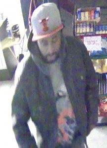 One of the suspects in an armed robbery at Sonny's Supplies in Landis.