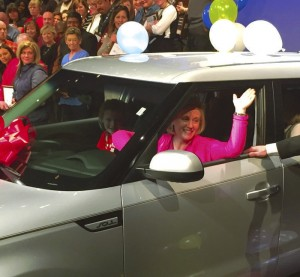 Julie Shatterly, WRHS Class of 1988, has won a new car.