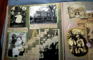 JON C. LAKEY / SALISBURY POST  Hall sat down with a reporter to share a brief overview of her life which is captured in a meticulously and creatively designed scrapbook she created.