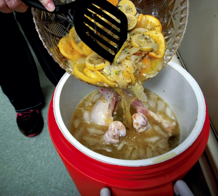 danelle cutting a turkey brine with citrus fruits salisbury post salisbury post 2