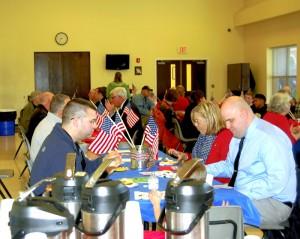 Amanda Raymond/Salisbury Post Sacred Heart Catholic School hosted an assembly and breakfast for local veterans on Wednesday.