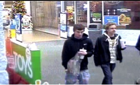 Suspects wanted in a series of car break ins caught on surveillance video.