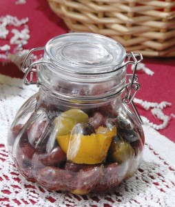 Deirdre Parker Smith/Salisbury Post A jar of citrus-marinated olives is a quick and easy gift for Christmas.