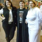 From left, Rebecca, Kaitlin and Tonya Corl came in costume for a Thursday night screening of the newest chapter in the 'Star Wars' saga, 'The Force Awakens' at the Tinseltown USA theater in Salisbury. Rebecca Rider/Salisbury Post