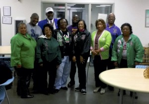 The graduate chapter of Alpha Kappa Alpha Sorority Inc., Delta Xi Omega Chapter and Omega Psi Phi Fraternity Inc., Tau Alpha Chapter, partnered together to collect and donate winter coats to Rowan Helping Ministries.