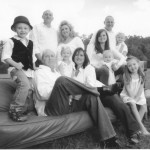 """Keith Overcash, seated, with his family. Overcash said thanks to the transplants and his lifestyle changes, he's """"getting to see and do things I haven't done for years. I've never been able to play with my grandchildren at Christmastime."""" Photo courtesy of Overcash family"""