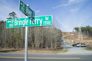 Josh Bergeron / Salisbury Post - The Rowan County Sheriff's Office on Sunday confirmed a decomposed human body was found in an area near the intersection of Bringle Ferry Road and River Road.