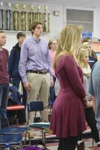 Elliot, center, and Burgess, center, will be singing in Carnegie Hall in February.