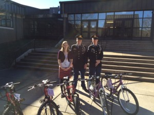 South Rowan's JROTC cadets deliver bikes.