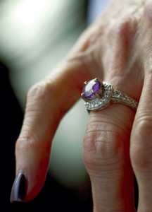 Judy Isenhour's long lost ring —finally found.