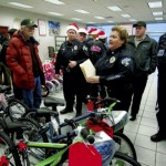 Capt. Shelia Lingle gives out the final instructions before the bikes are delivered. Jon C. Lakey/Salisbury Post
