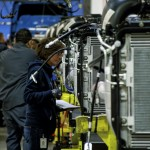 In this file photo, a Freightliner employee works at the Cleveland plant on National Manufacturing Day in October, when the company hosted a celebration and tours. Josh Bergeron/Salisbury Post