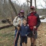 Russ Stevens, left, with friend  and fellow hiker, Jim, and Jim's son Elijah at the First Day Hike. Submitted photo