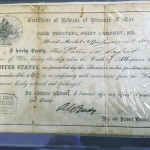 The Certificate of Release of Prisoner of War for Rowan County Civil War veteran Peter Safrit. Safrit signed the release two months after the end of the war. David Freeze/For the Salisbury Post