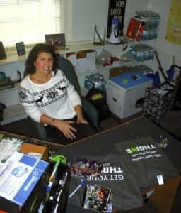 Brittney Barnhardt in her office at Christiana.