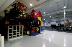 An existing indoor children's playground remains and is a big hit with young church members.  Jon Lakey/Salisbury Post