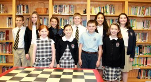 rom Left to Right (top) Connor Hennie, Kathryn Marino, Kalynn Bailey, Matt Frank, Alyssa Lopez, Colleen Heuser, (bottom) Mary Kathryn Aycock, Emma Brown, Jacob Shores and Delaney Fisher