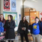 Parents and educators, including Dr. Lynn Moody, tour Knox Middle School during a community visit. Rebecca Rider/Salisbury Post